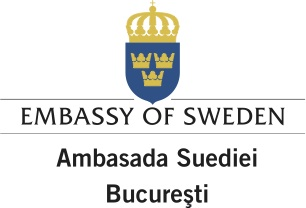 Logo Embassy of Sweden Bucharest eng rum